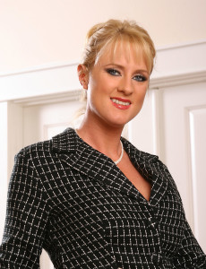 Tall  Blond Haired  Cougar Unwinds After a Day in the Office