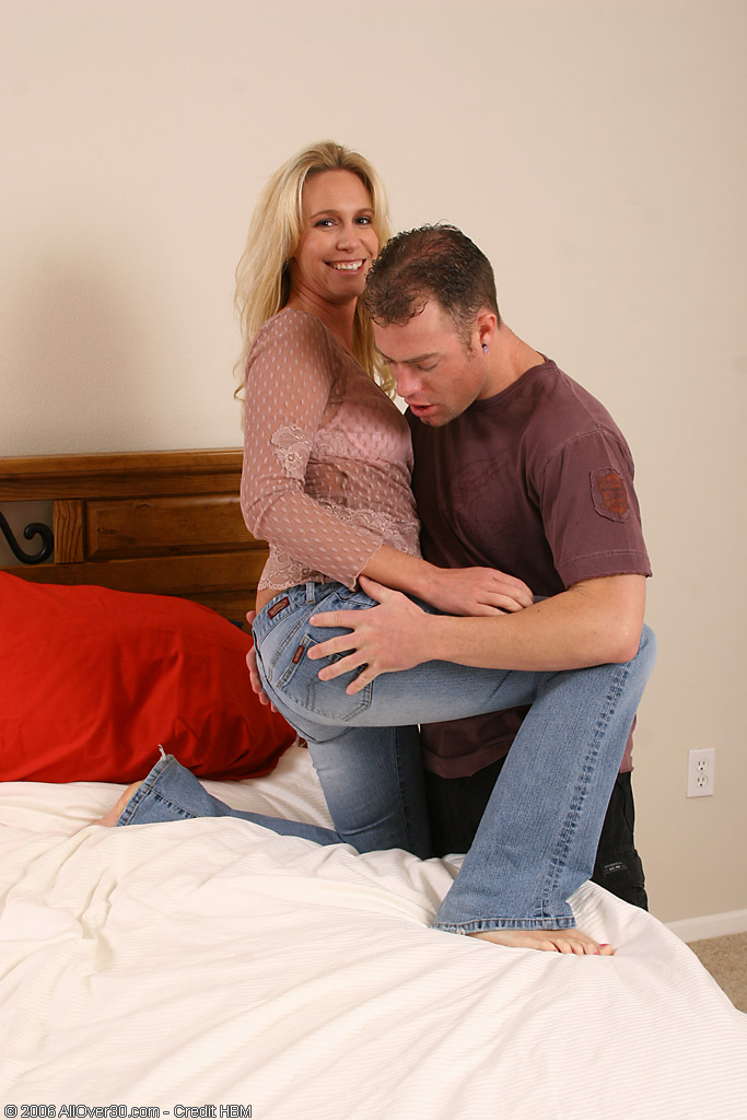 35 Year Old Debbie Just Cannot Get Enough Young Cock