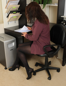 At 43 Years Old  Super  Super Kinky Chane Can't Keep Her Gams Together at Her Desk