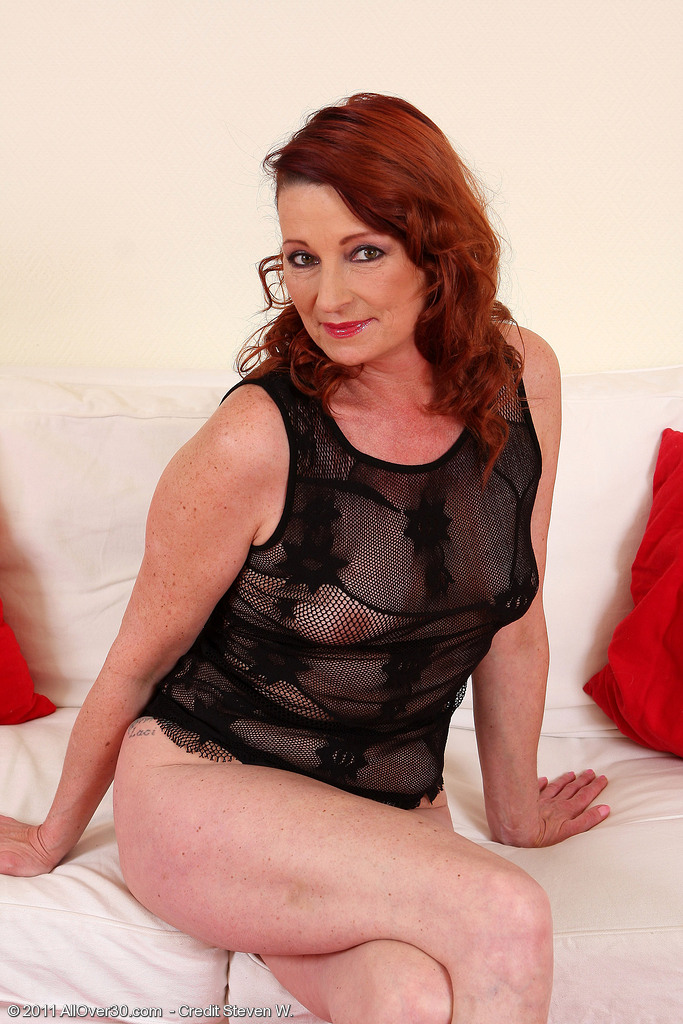 45 Year Old Gigi Glides off Her  Hot Ebony Thong and  Opens Her Pink Lips