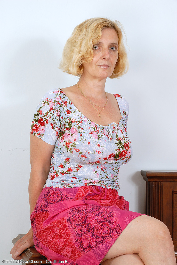 51 Year Old  Cougar Hillary Shows off Her  All  All  All  All Natural Tits and  Bushy  Honeypot