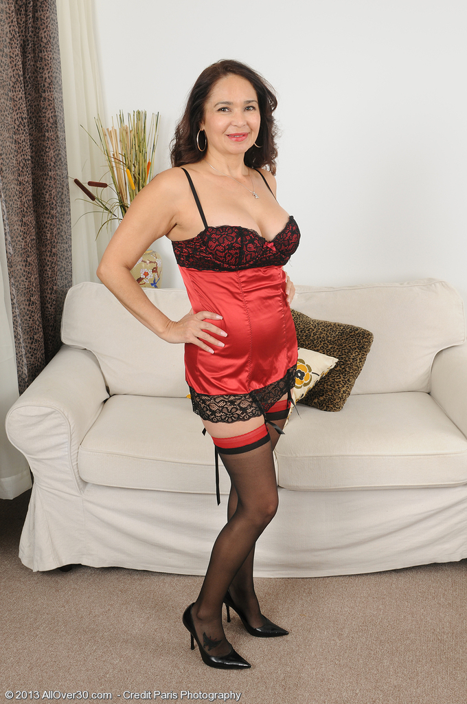 At 52 Years Old  Super  Super  Super Horny  Brown Haired Sam Looks Fine in Her Tight Undies