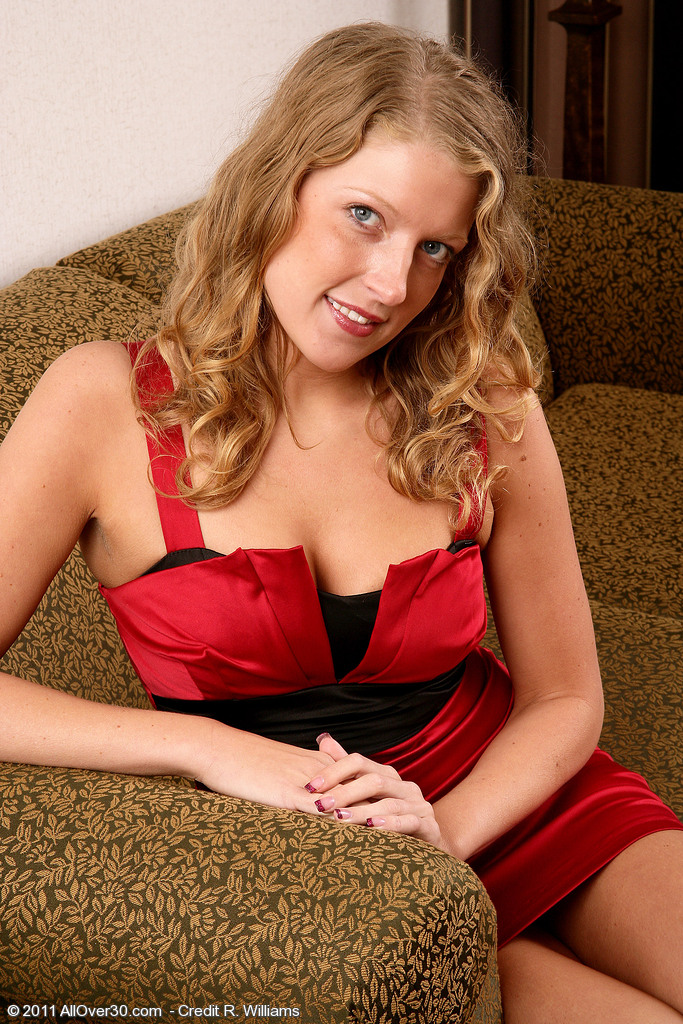 30 Year Old Sara C from  Milfs30 Slips out of Her Elegant Red Dress