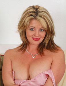Big Breasted Sherry V Slides off Her  Attire and Explores Her Pink  Older  Twat