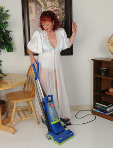 50 Year Old Surely from  Milfs30 Gets  Bare While Doing Her Housework