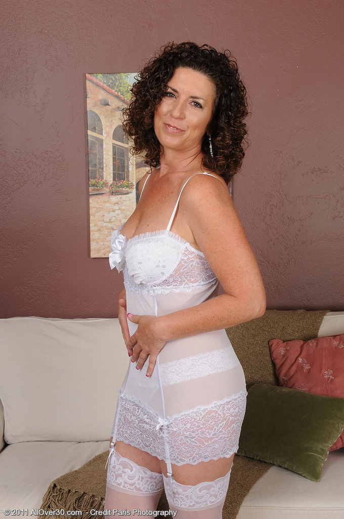 45 Year Old  Brown Haired  Wife Tammy Sue in  Hot White Thong