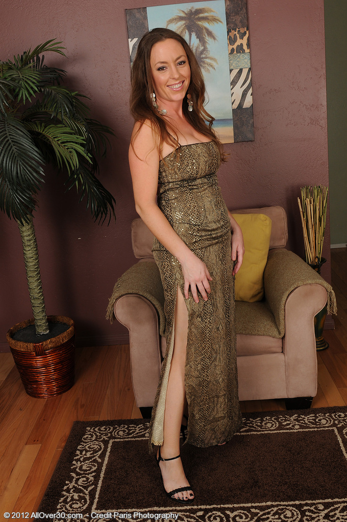 34 Year Old  Elegant Milf Tamara Fox Glides out of Her Evening Dress