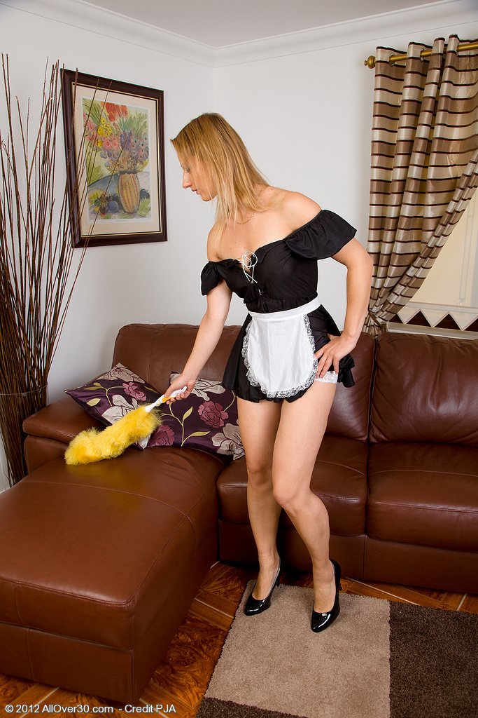 Gorgeous Tara Trinity is Your Beloved French Maid in and out of  Attire