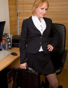 At 46 Years Old Tiffany T Still Looks Good Sitting  Naked in the Office