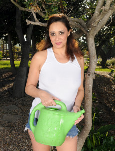 46 Year Old Alesia Gusto from  Milfs30 Doing Some  Nude Gardening