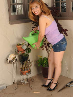 Exotic 47 Year Old Marissa from  Milfs30 Doing a Little  Nude Gardening