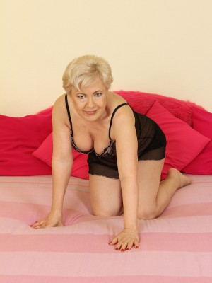 Insane Old 58 Year Old Mimi Pleasuring Herself with a Large Plastic Fake Penis