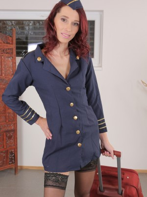 37 yr old Breanne Plays Stewardess and Slowly will take off available
