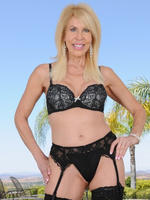 Stunning 60 Yr Old Erica Lauren from  Milfs30 Posing in Thong