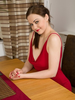 Insane Tina Kay and Her Guy Get It on After Dinner Regarding Table