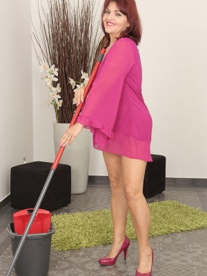 Older Natalia Muray Had Been Doing Housework but Started Feeling Frisky