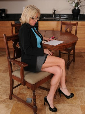 Naughty Secretary Payton Hall Could Well Keep a Key As She Flashes Those Big Boobs
