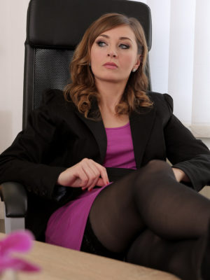 Strict Employer Luca Bella Teaches Her Worker a Lesson