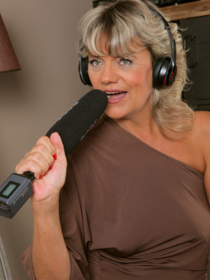 Blond Milf Sherry D is regarding the Microphone
