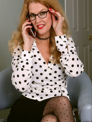 Lacy F Polka Dots and Stockings