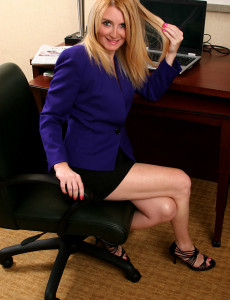 Getting  Bare at the Office is Only One of Her Specialties