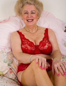 At 57 Years Old  Big Breasted Still Enjoys to Play with Her Hairy Muff