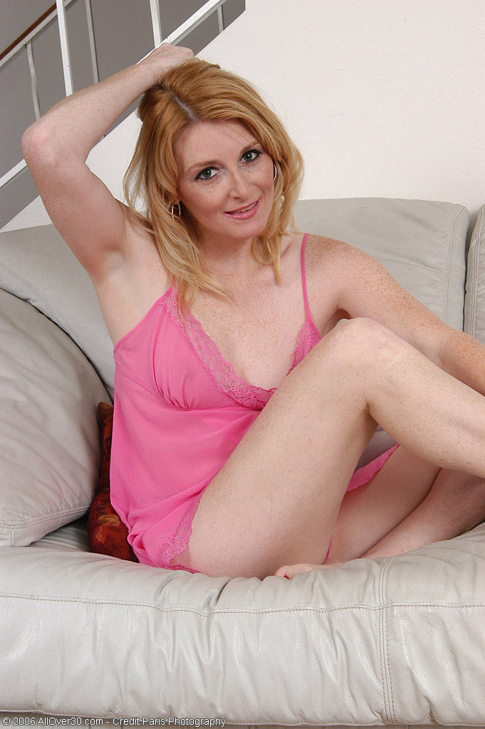 36 Year Old Ashley Poses Her  Beaver in Her Pinkish Teddy