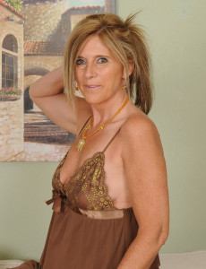48 Year Old Amanda Jean from  Milfs30 in a  Hot Beige Nighty