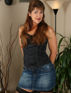 Andie Shows off Her Jeans Skirt Before Demonstrating off Her Hairy  Beaver