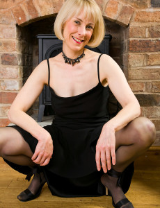 52 Year Old Hazel Struts Her Stuff then Opens Her Gams on