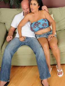 Ample Titted and  Older Honey Jaylene Gets to Work on a Hard Cock in Here