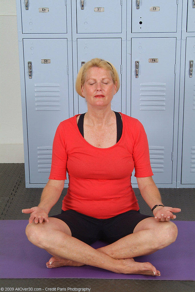 A Little Yoga in the Naked Keeps 55 Year Old Josie Smoking Hot