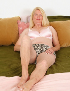 55 Year Old Jose  Opens Her Gams and Plays with Her  Older Babe  Twat