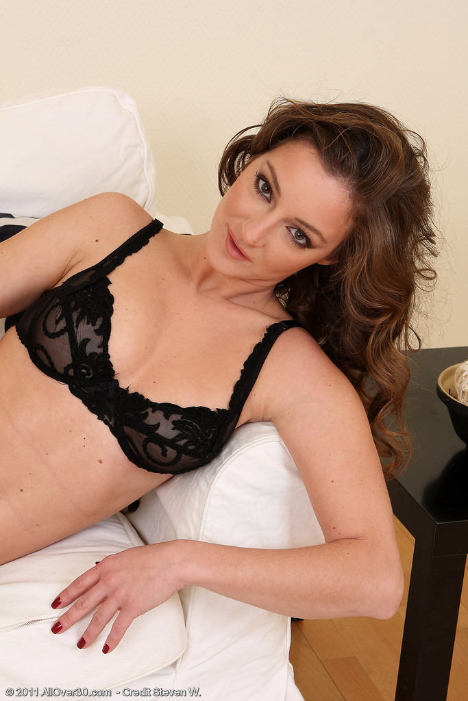 30 Year Old Judith Slides off Her Thong and  Opens Her  Wooly Labia