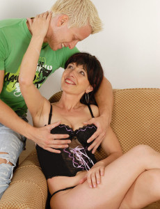 Hot  Brown Haired Juliette Gets Her  Older Stunner  Cunt Packed with Junior Cock