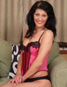 52 Year Old Kitty S Displaying off Her  Older Babe Body in Warm Pink Undies