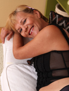 Blond Haired and 56 Years Old Lili  Takes off off Her  Undies to Reveal  All  All  All Innate Bush