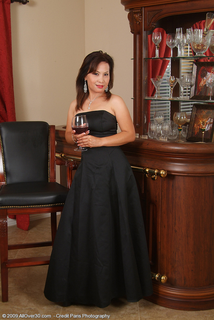 Elegant and Ethnic Maya Glides out of Her Dress After a Little Wine