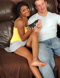Black  Cougar Neela Heads Interracial with a Frat Boy and Pummels Him Silly