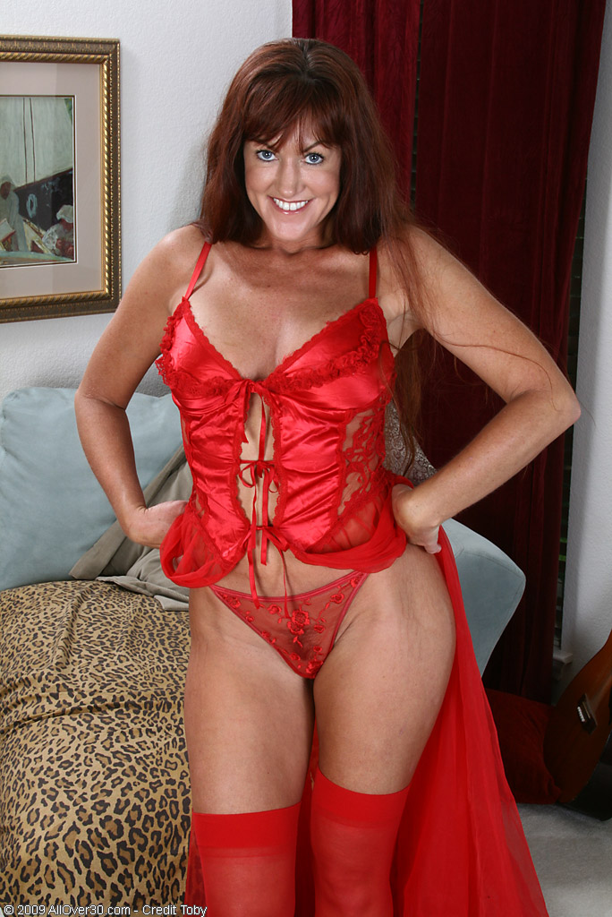 But all over 30 red lingerie granny