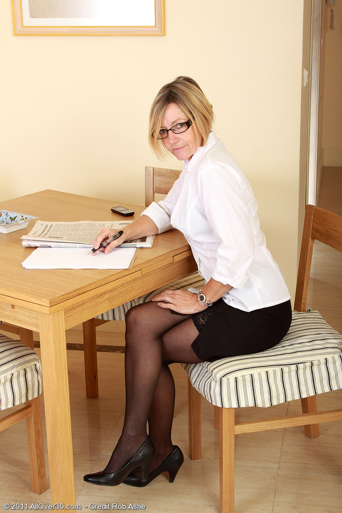 Hot 49 Year Old Susie Slides off Her Working  Attire to Open Up Her  Hoo Ha