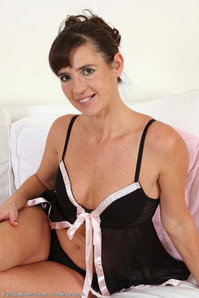 47 Year Old Suzie Takes Off Off Her Ebony Thong And -6210