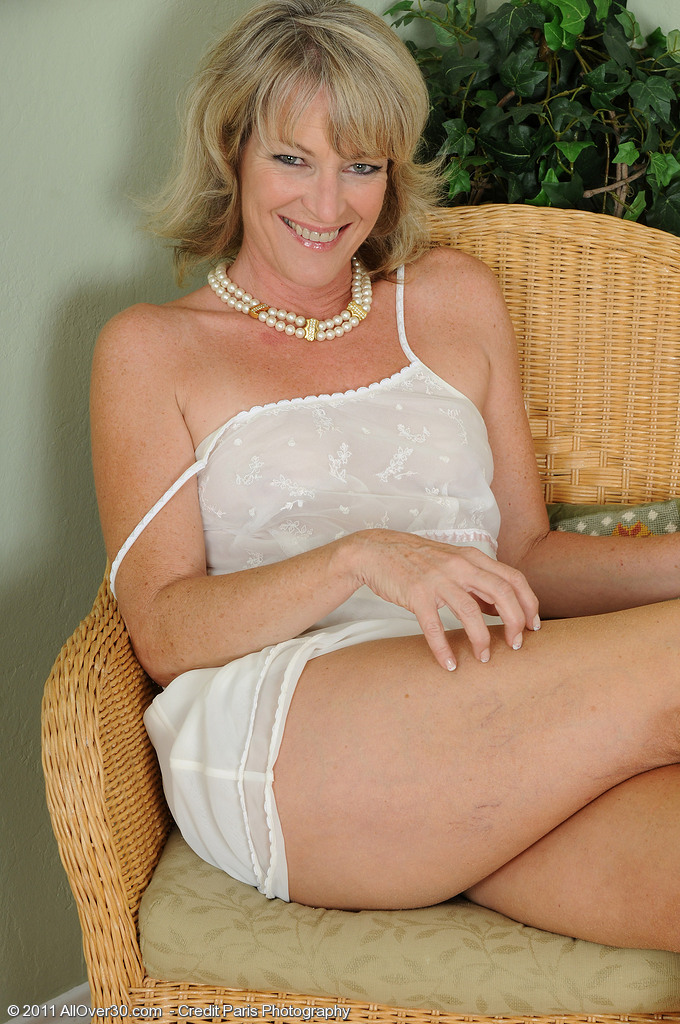 Hot  Blond Tina from  Milfs30 Comes Back Again in Hot White Thong