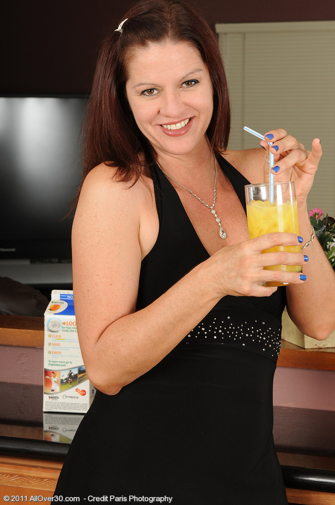 39 Year Old Xena from  Milfs30  Takes off After Liking a Bit of Oj