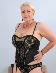 At 60 Years Old Angelique's Meaty Boobs Are Looking Sexy