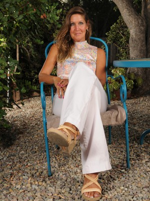 Handsome 50 Year Old La Valkenberd Shows off Her Stuff Outdoors