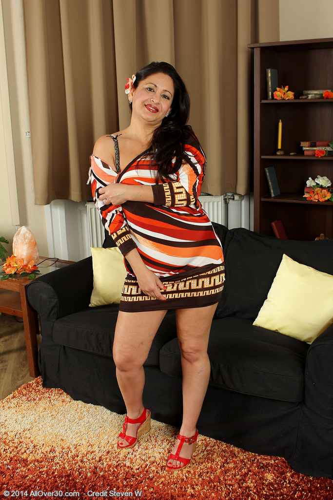 Elegant 36 Year Old Milli Undresses off Her Dress and