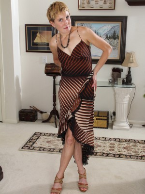 Lanky 25 Year Old Katrina Mathews Glides off Her Elegant Dress Inside Here
