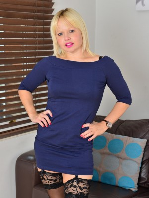 35 Yr Old Sophie Might from  Milfs30 Slides off Her Dress to Play
