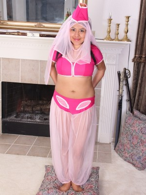 Exotic  Older Babe Cici Jones Dresses Up As a Genie to Grant Your Gorgeous Desires